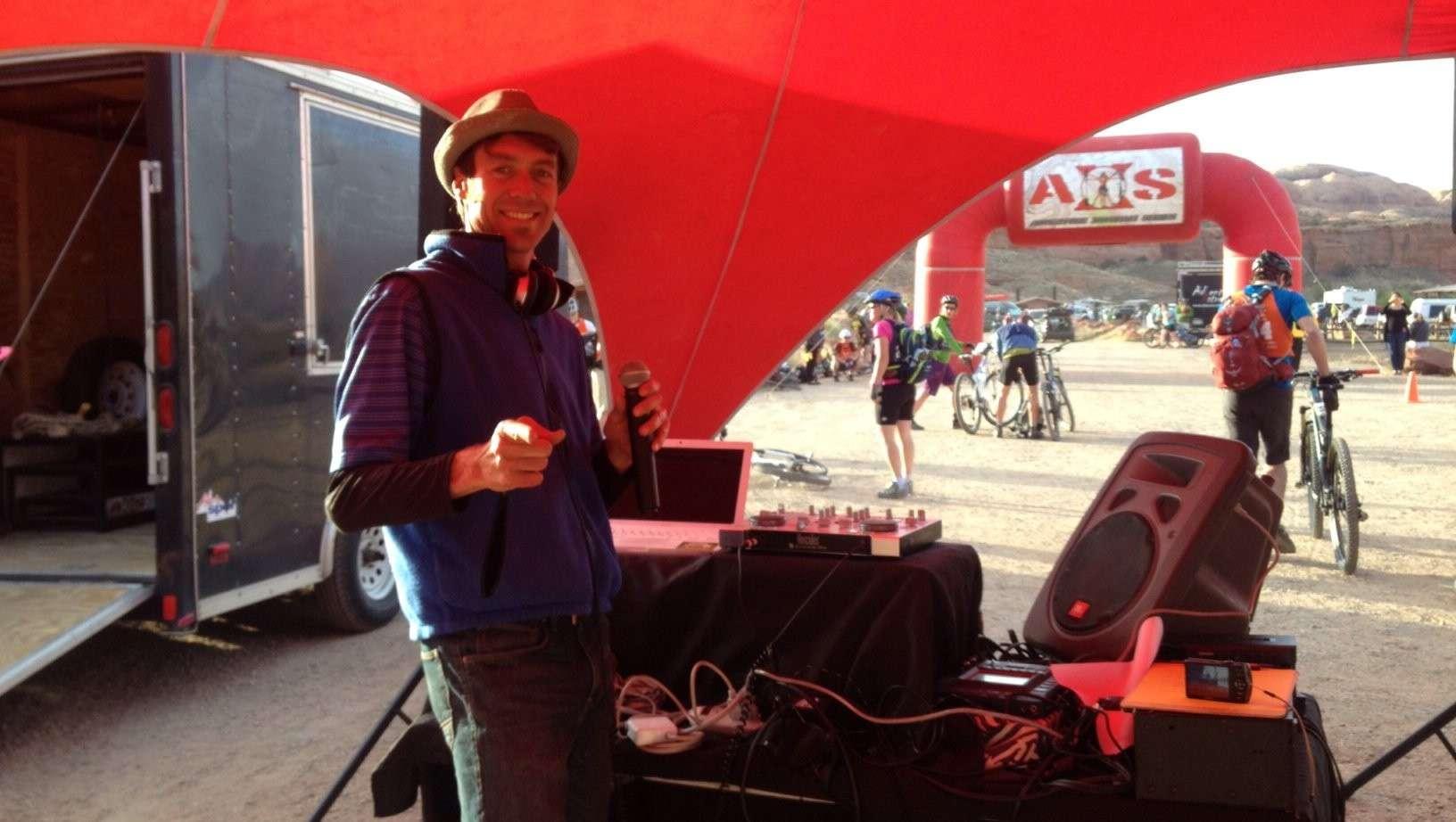 AXS Moab 50 mile race - post race entertainment by DJ CodeStar